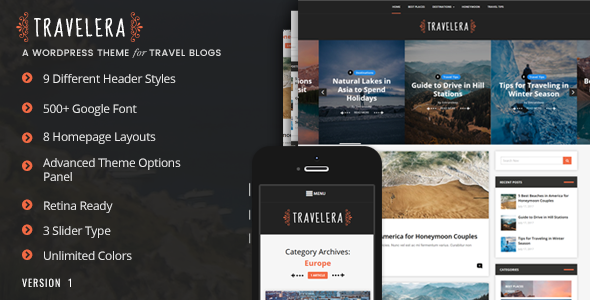 Travelera Preview Wordpress Theme - Rating, Reviews, Preview, Demo & Download