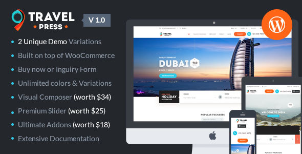 TravelPress Preview Wordpress Theme - Rating, Reviews, Preview, Demo & Download
