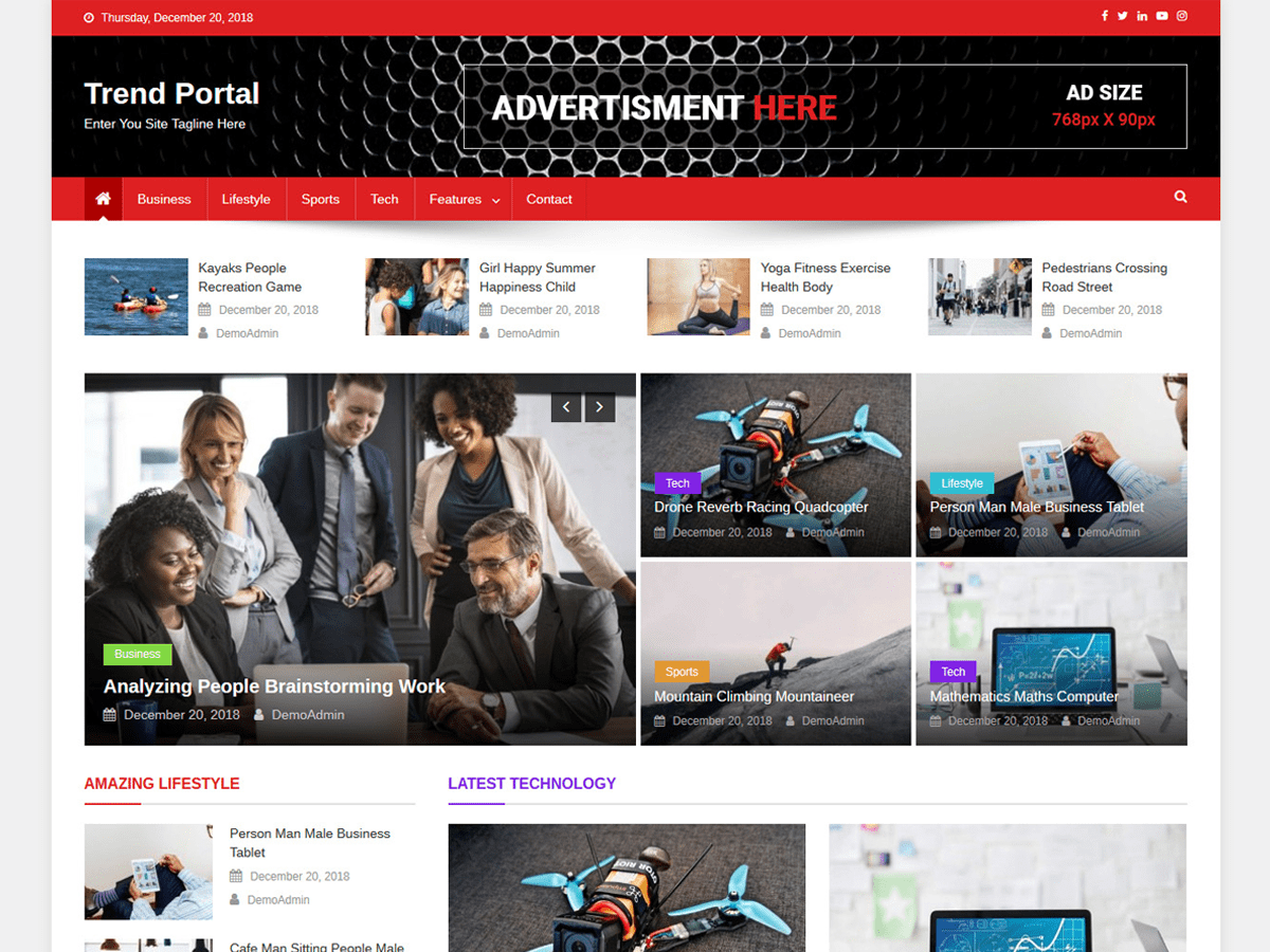 Trend Portal Preview Wordpress Theme - Rating, Reviews, Preview, Demo & Download