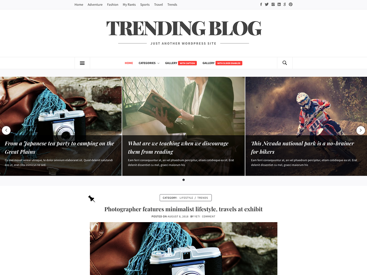 Trending Blog Preview Wordpress Theme - Rating, Reviews, Preview, Demo & Download