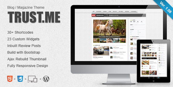 TrustMe Preview Wordpress Theme - Rating, Reviews, Preview, Demo & Download