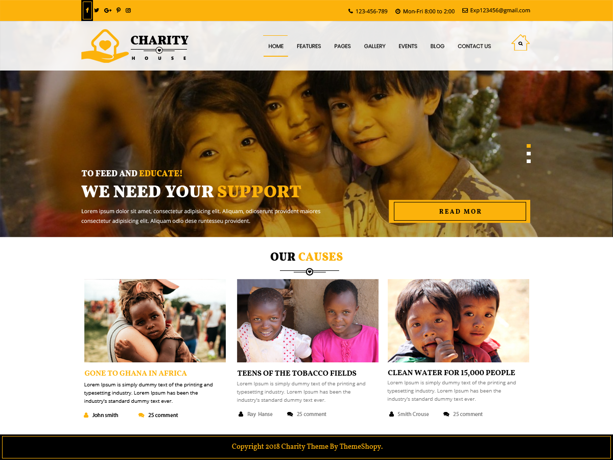 TS Charity Preview Wordpress Theme - Rating, Reviews, Preview, Demo & Download
