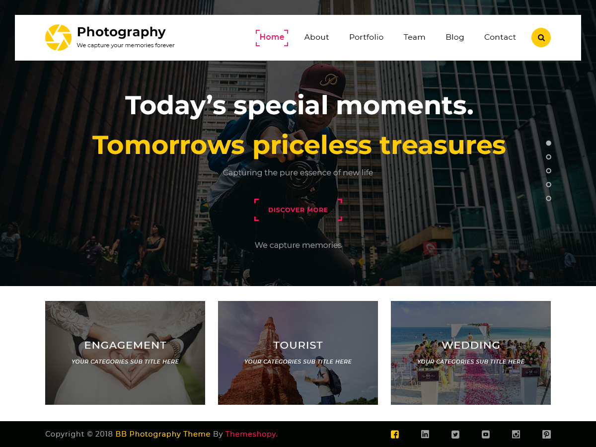 TS Photography Preview Wordpress Theme - Rating, Reviews, Preview, Demo & Download