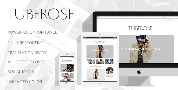 Tuberose Preview Wordpress Theme - Rating, Reviews, Preview, Demo & Download