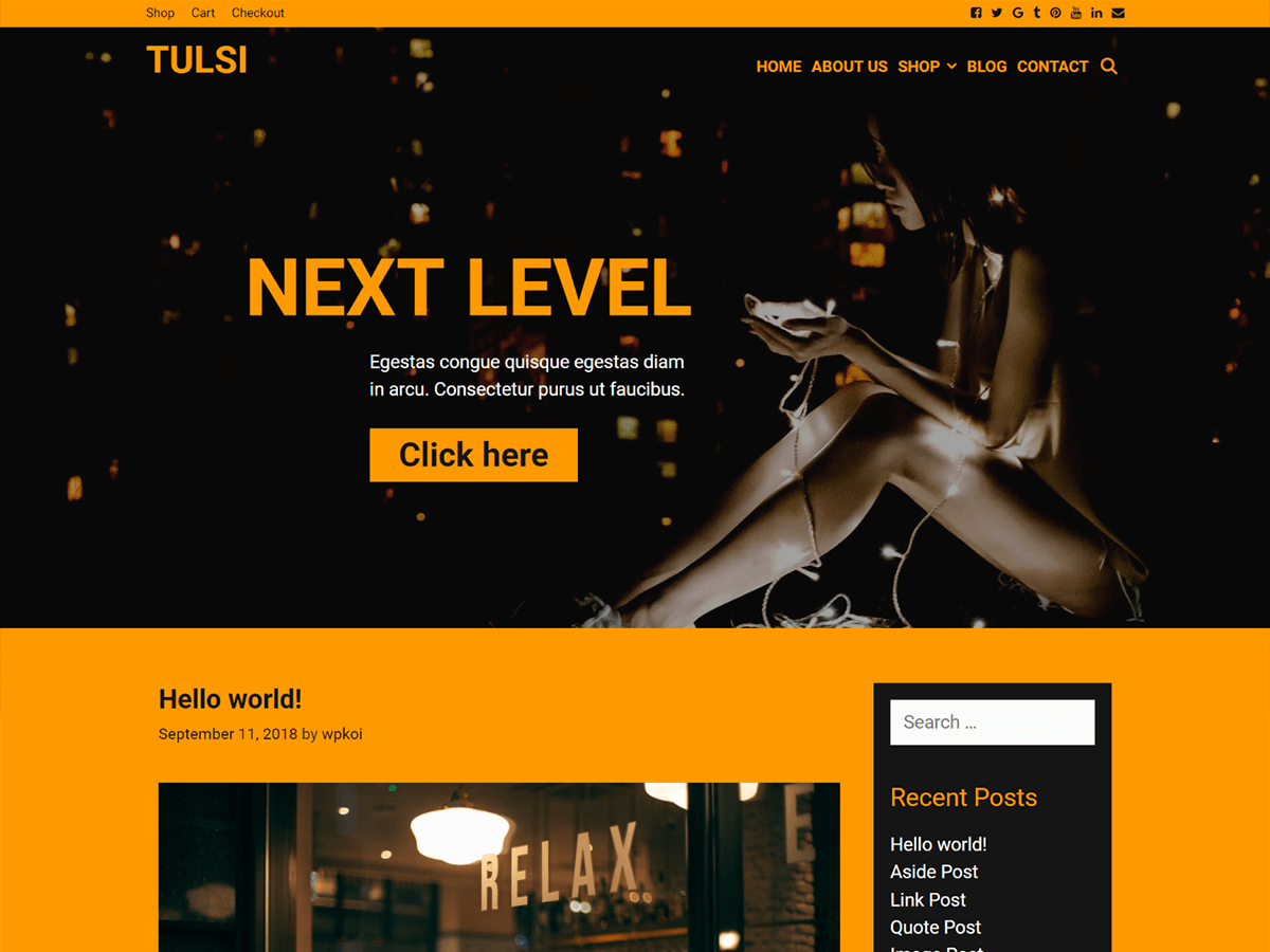 Tulsi Preview Wordpress Theme - Rating, Reviews, Preview, Demo & Download
