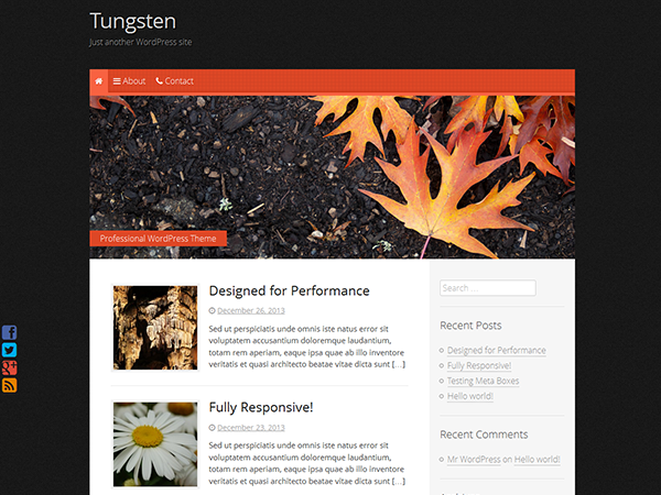 Tungsten Preview Wordpress Theme - Rating, Reviews, Preview, Demo & Download