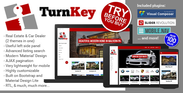 TurnKey Real Preview Wordpress Theme - Rating, Reviews, Preview, Demo & Download