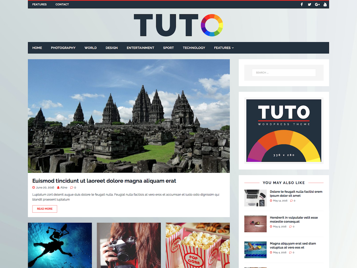 Tuto Preview Wordpress Theme - Rating, Reviews, Preview, Demo & Download