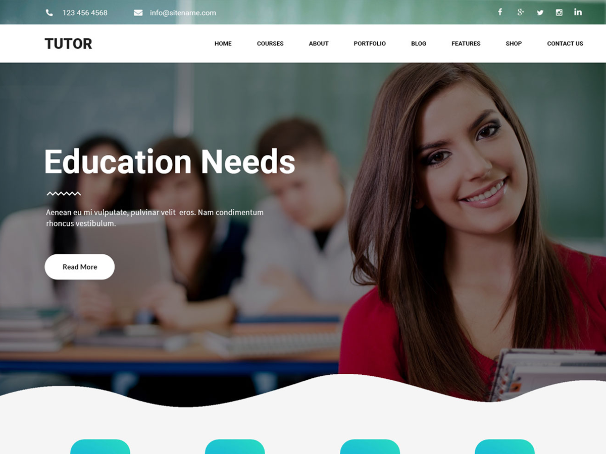 Tutor Preview Wordpress Theme - Rating, Reviews, Preview, Demo & Download