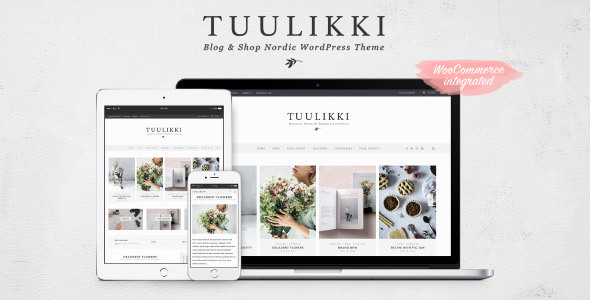 TUULIKKI Nordic Preview Wordpress Theme - Rating, Reviews, Preview, Demo & Download