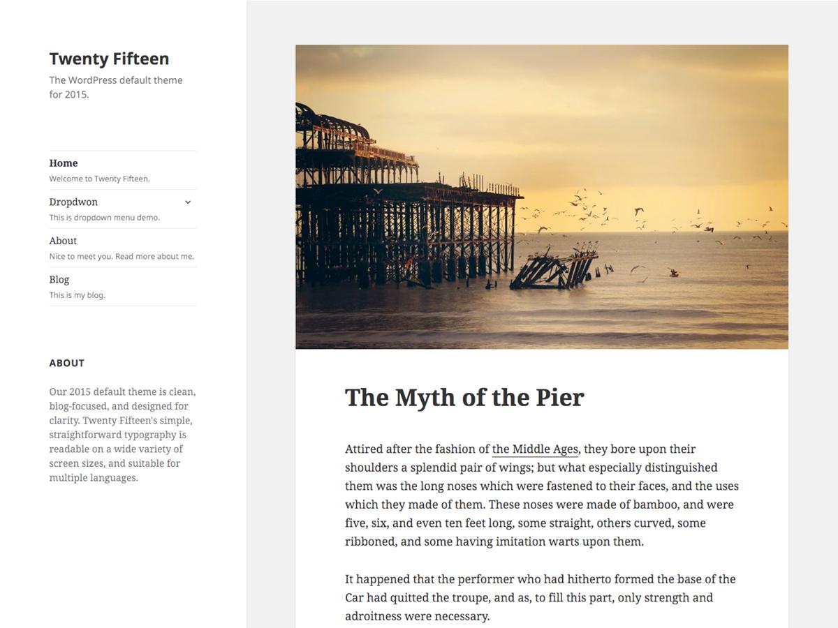 Twenty Fifteen Preview Wordpress Theme - Rating, Reviews, Preview, Demo & Download