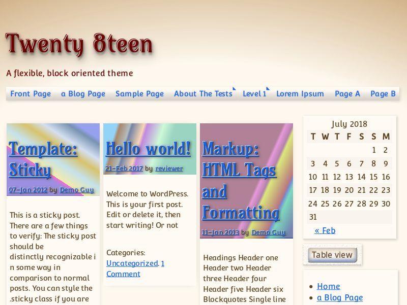 Twenty8teen Preview Wordpress Theme - Rating, Reviews, Preview, Demo & Download