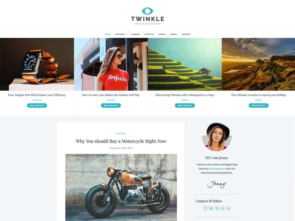 Twinkle Preview Wordpress Theme - Rating, Reviews, Preview, Demo & Download