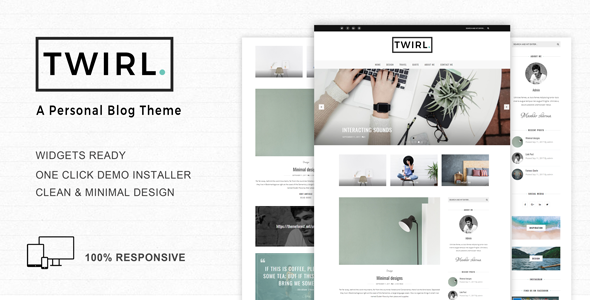 Twirl Preview Wordpress Theme - Rating, Reviews, Preview, Demo & Download