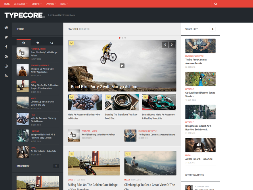 Typecore Preview Wordpress Theme - Rating, Reviews, Preview, Demo & Download