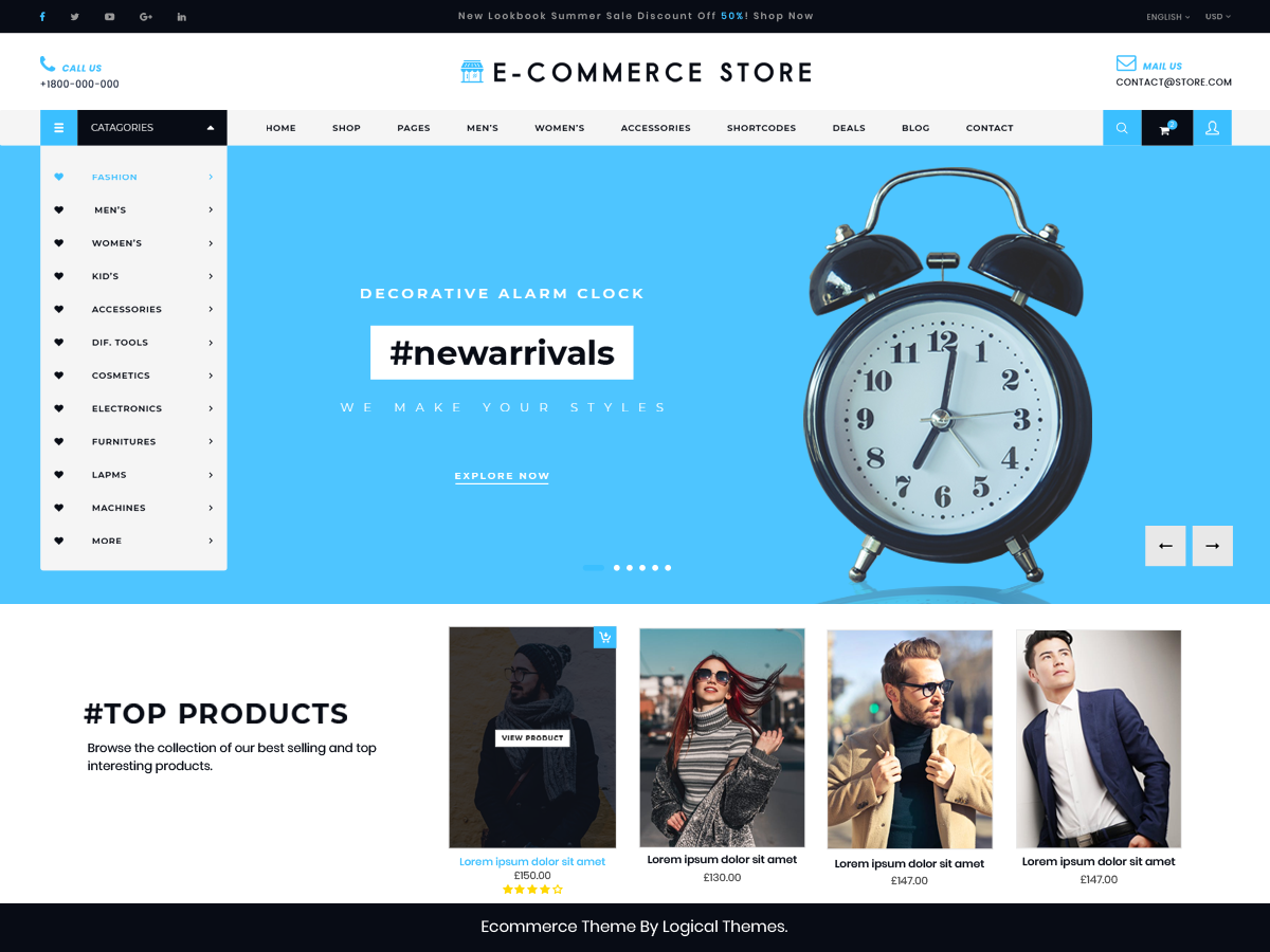 Ultimate Ecommerce Preview Wordpress Theme - Rating, Reviews, Preview, Demo & Download