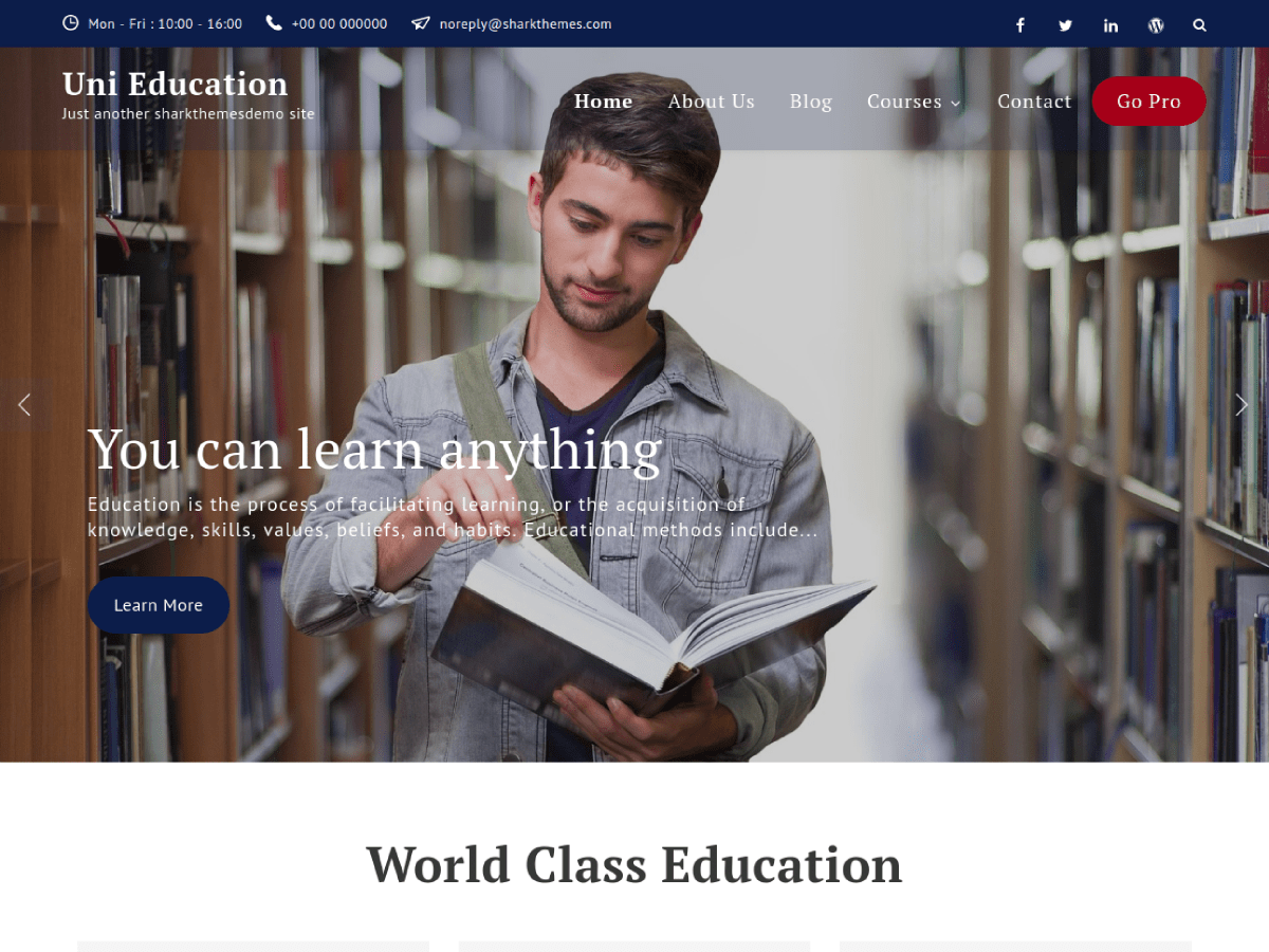Uni Education Preview Wordpress Theme - Rating, Reviews, Preview, Demo & Download