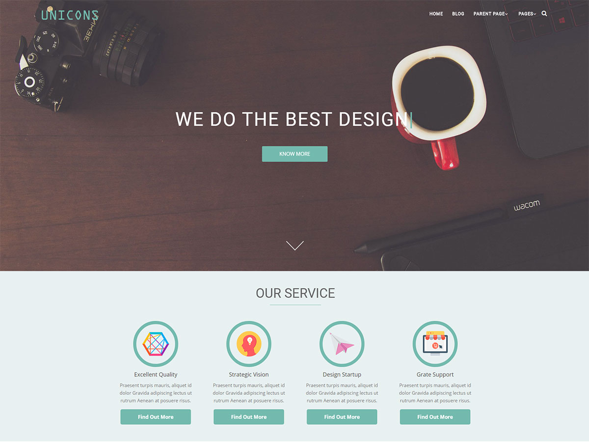 Unicons Preview Wordpress Theme - Rating, Reviews, Preview, Demo & Download