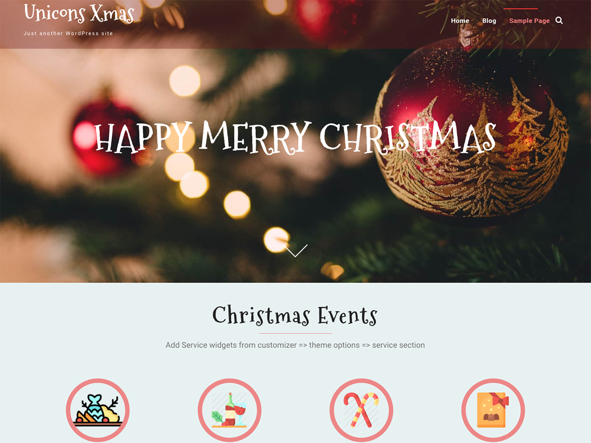 Unicons Xmas Preview Wordpress Theme - Rating, Reviews, Preview, Demo & Download