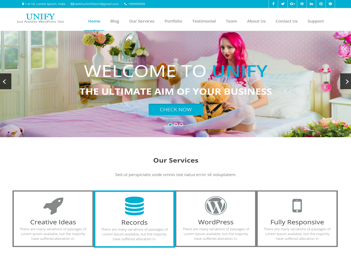 Unify Preview Wordpress Theme - Rating, Reviews, Preview, Demo & Download