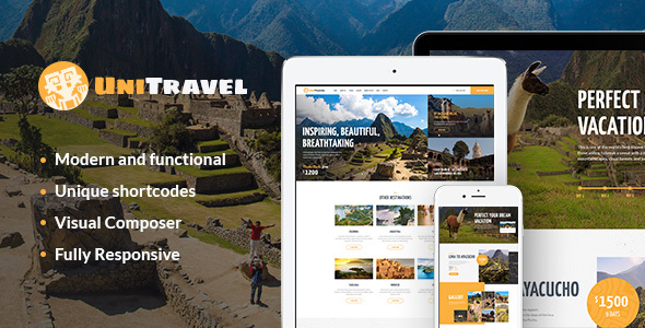 UniTravel Preview Wordpress Theme - Rating, Reviews, Preview, Demo & Download
