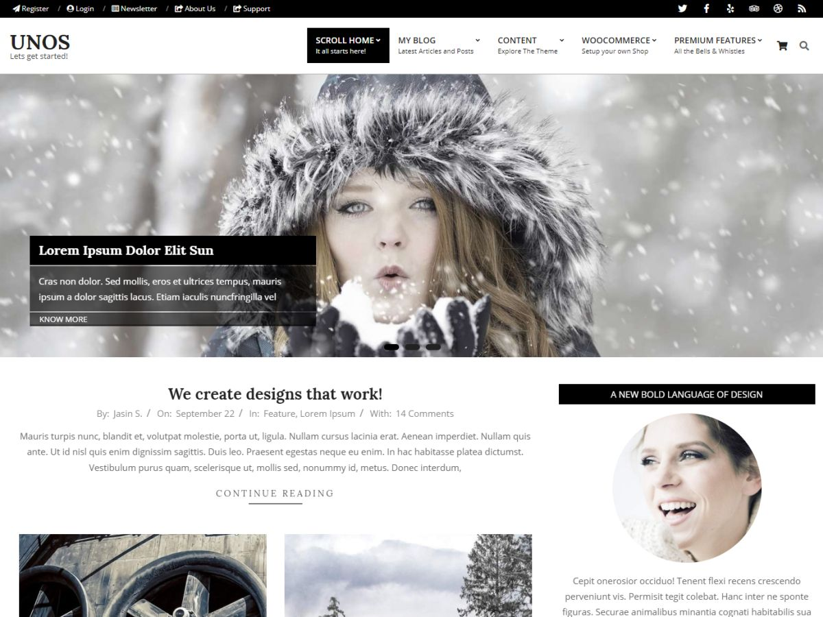 Unos Preview Wordpress Theme - Rating, Reviews, Preview, Demo & Download