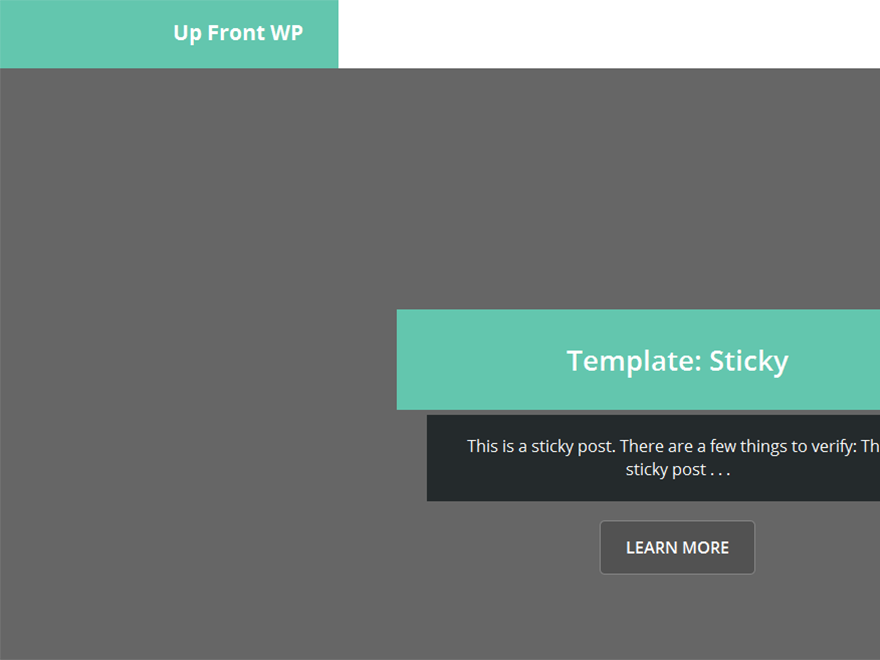 Up Front Preview Wordpress Theme - Rating, Reviews, Preview, Demo & Download