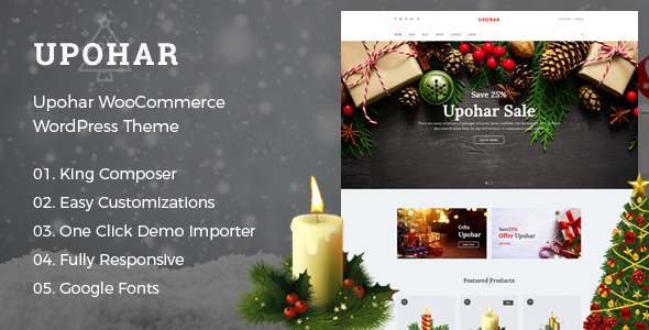 Upohar Preview Wordpress Theme - Rating, Reviews, Preview, Demo & Download