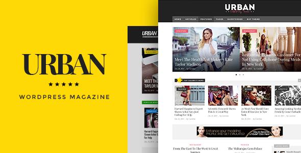 Urban Preview Wordpress Theme - Rating, Reviews, Preview, Demo & Download