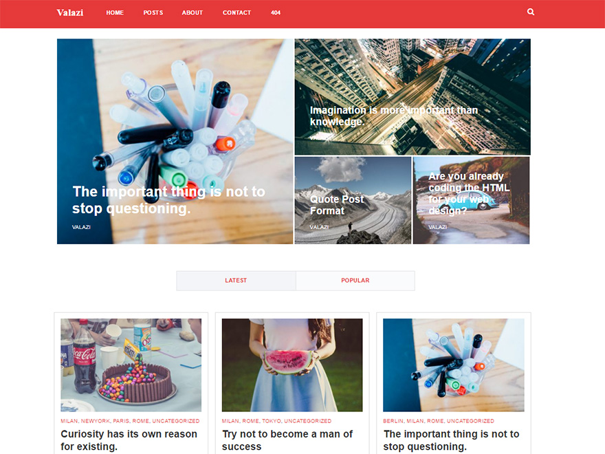 Valazi Preview Wordpress Theme - Rating, Reviews, Preview, Demo & Download