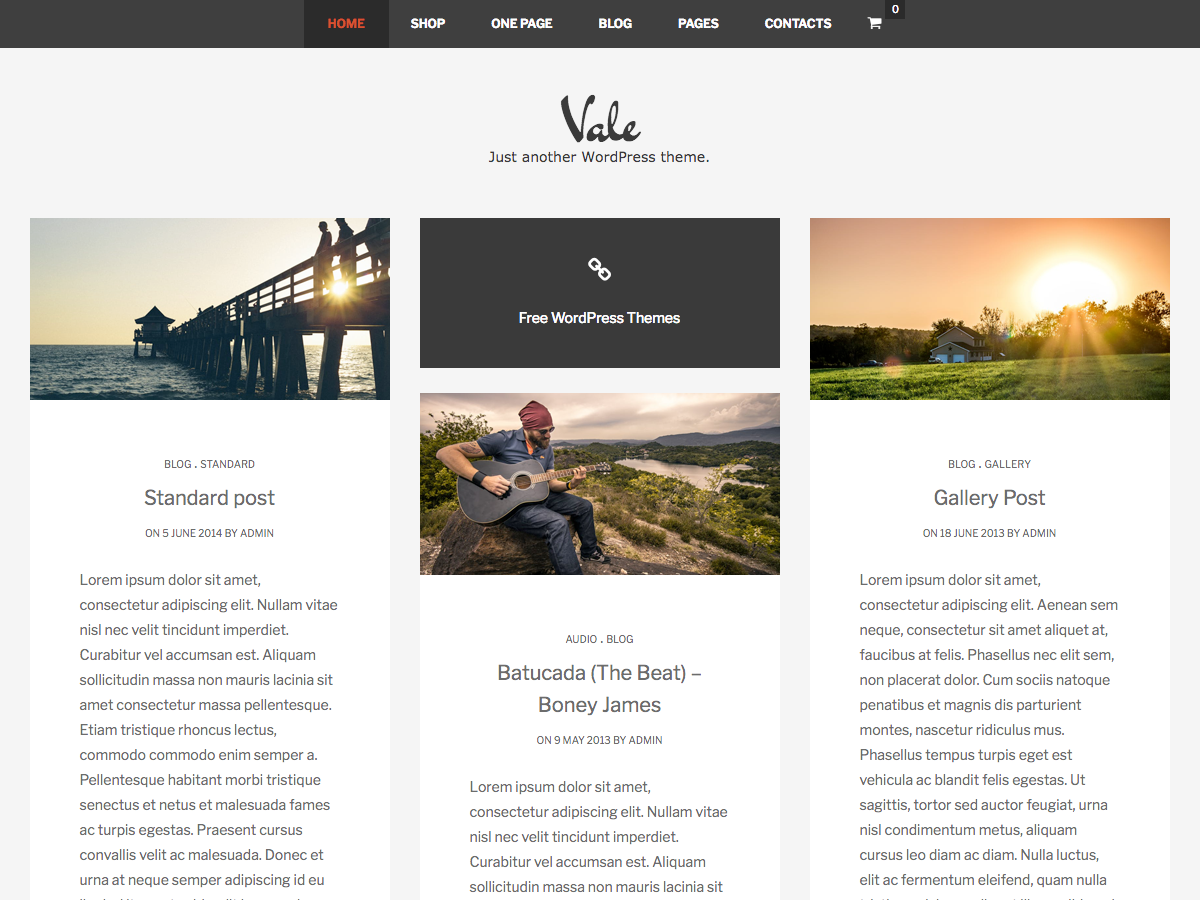 Vale Preview Wordpress Theme - Rating, Reviews, Preview, Demo & Download