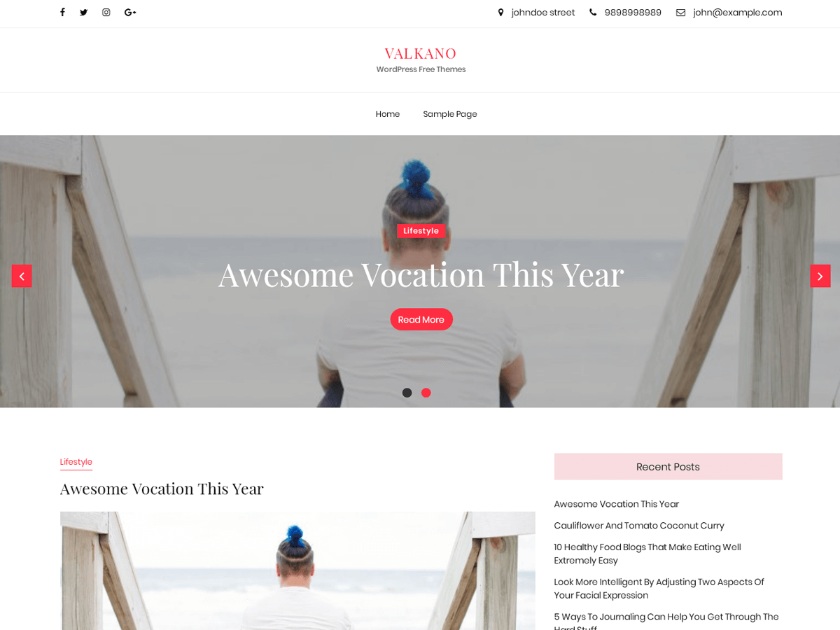 Valkano Preview Wordpress Theme - Rating, Reviews, Preview, Demo & Download