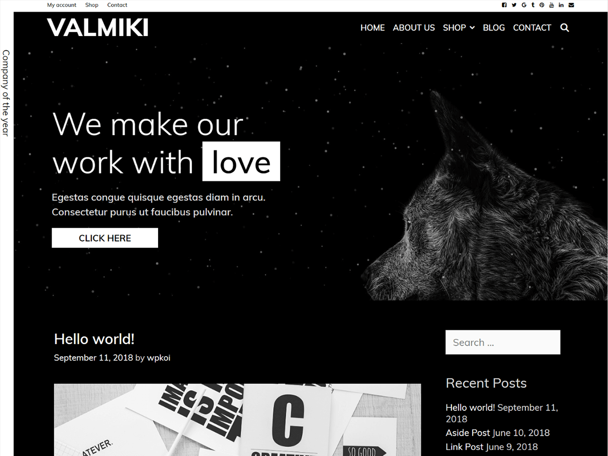 Valmiki Preview Wordpress Theme - Rating, Reviews, Preview, Demo & Download