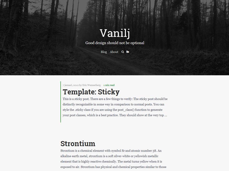 Vanilj Preview Wordpress Theme - Rating, Reviews, Preview, Demo & Download