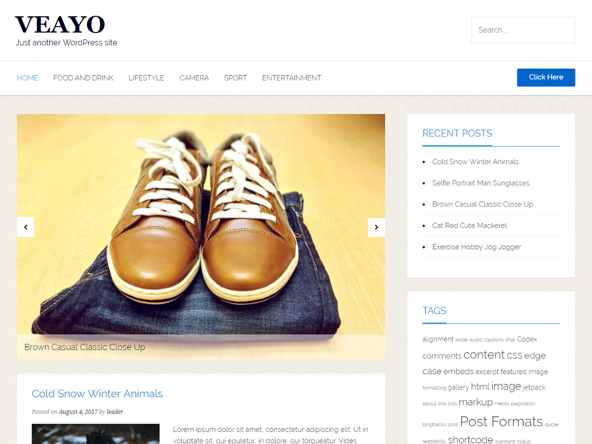 Veayo Preview Wordpress Theme - Rating, Reviews, Preview, Demo & Download
