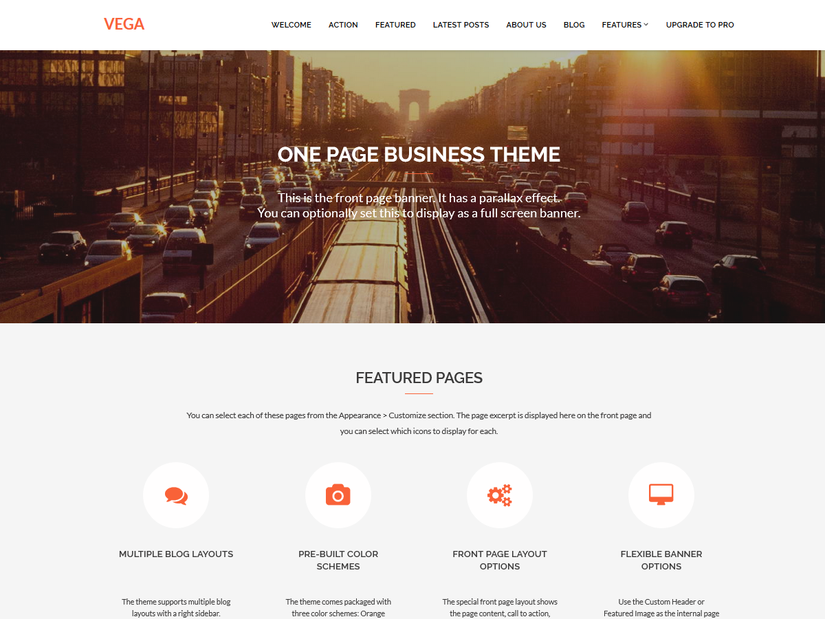 Vega Wordpress Theme - Rating, Reviews, Preview, Demo & Download