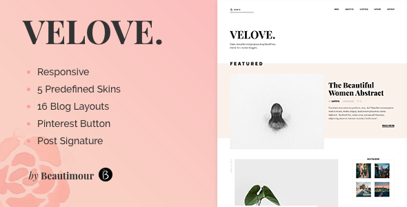 Velove Preview Wordpress Theme - Rating, Reviews, Preview, Demo & Download