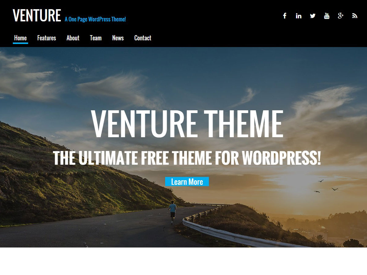 Venture Lite Preview Wordpress Theme - Rating, Reviews, Preview, Demo & Download