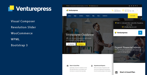 VenturePress Preview Wordpress Theme - Rating, Reviews, Preview, Demo & Download