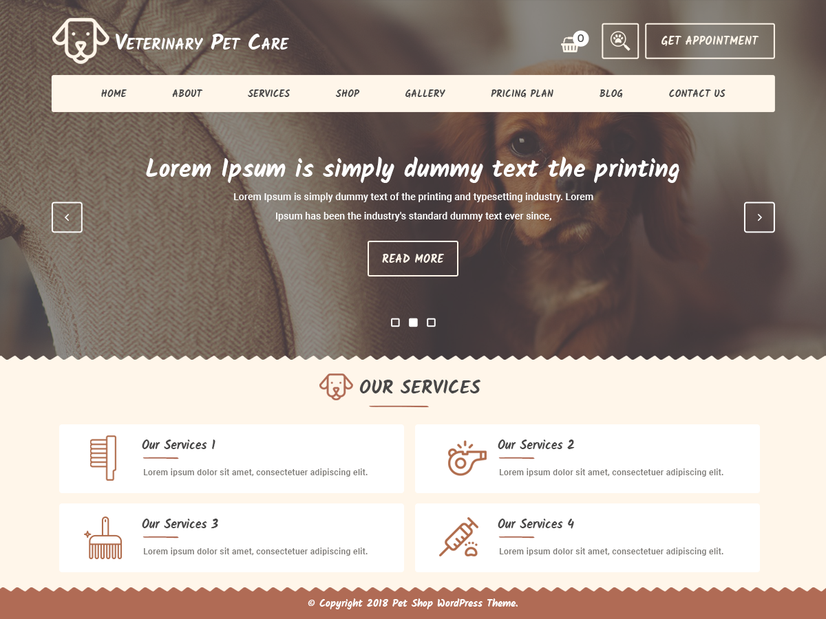 Veterinary Pet Preview Wordpress Theme - Rating, Reviews, Preview, Demo & Download