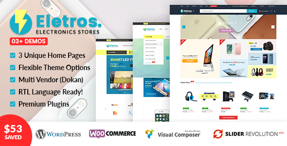 VG Eletros Preview Wordpress Theme - Rating, Reviews, Preview, Demo & Download