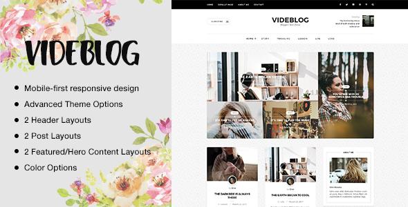 Videblog Preview Wordpress Theme - Rating, Reviews, Preview, Demo & Download