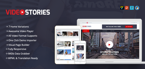 VideoStories Preview Wordpress Theme - Rating, Reviews, Preview, Demo & Download
