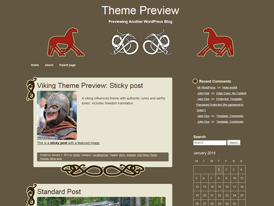 Viking Preview Wordpress Theme - Rating, Reviews, Preview, Demo & Download