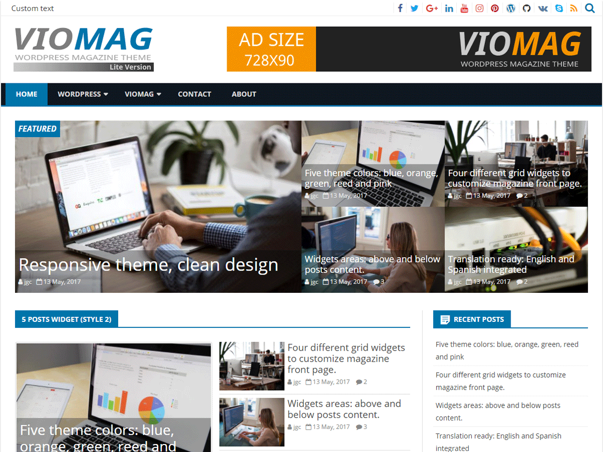 VioMag Preview Wordpress Theme - Rating, Reviews, Preview, Demo & Download