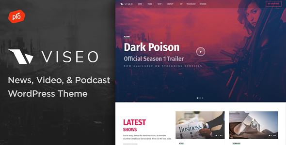 Viseo Preview Wordpress Theme - Rating, Reviews, Preview, Demo & Download
