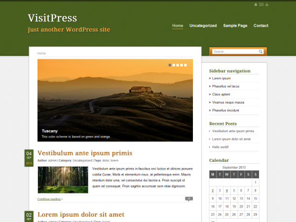 VisitPress Preview Wordpress Theme - Rating, Reviews, Preview, Demo & Download
