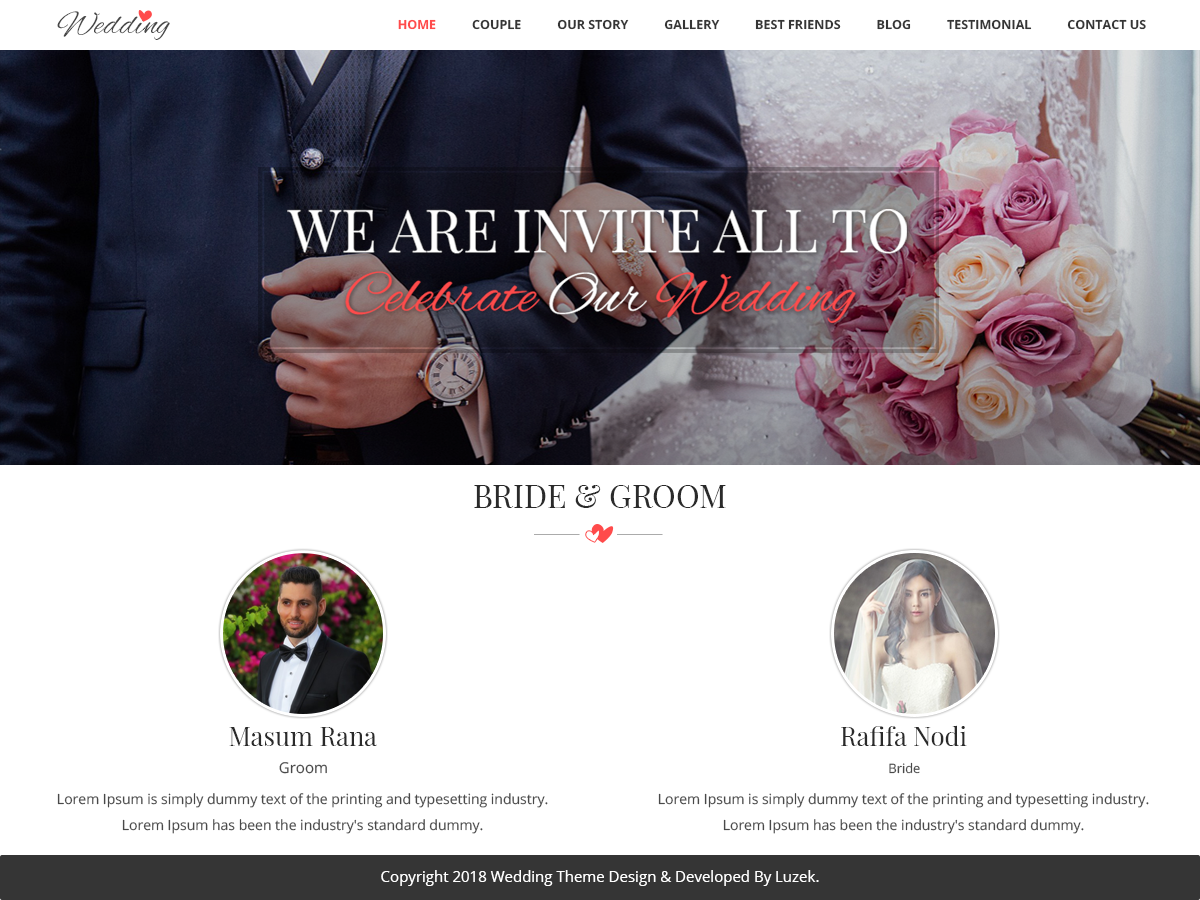 Vivah Royal Preview Wordpress Theme - Rating, Reviews, Preview, Demo & Download