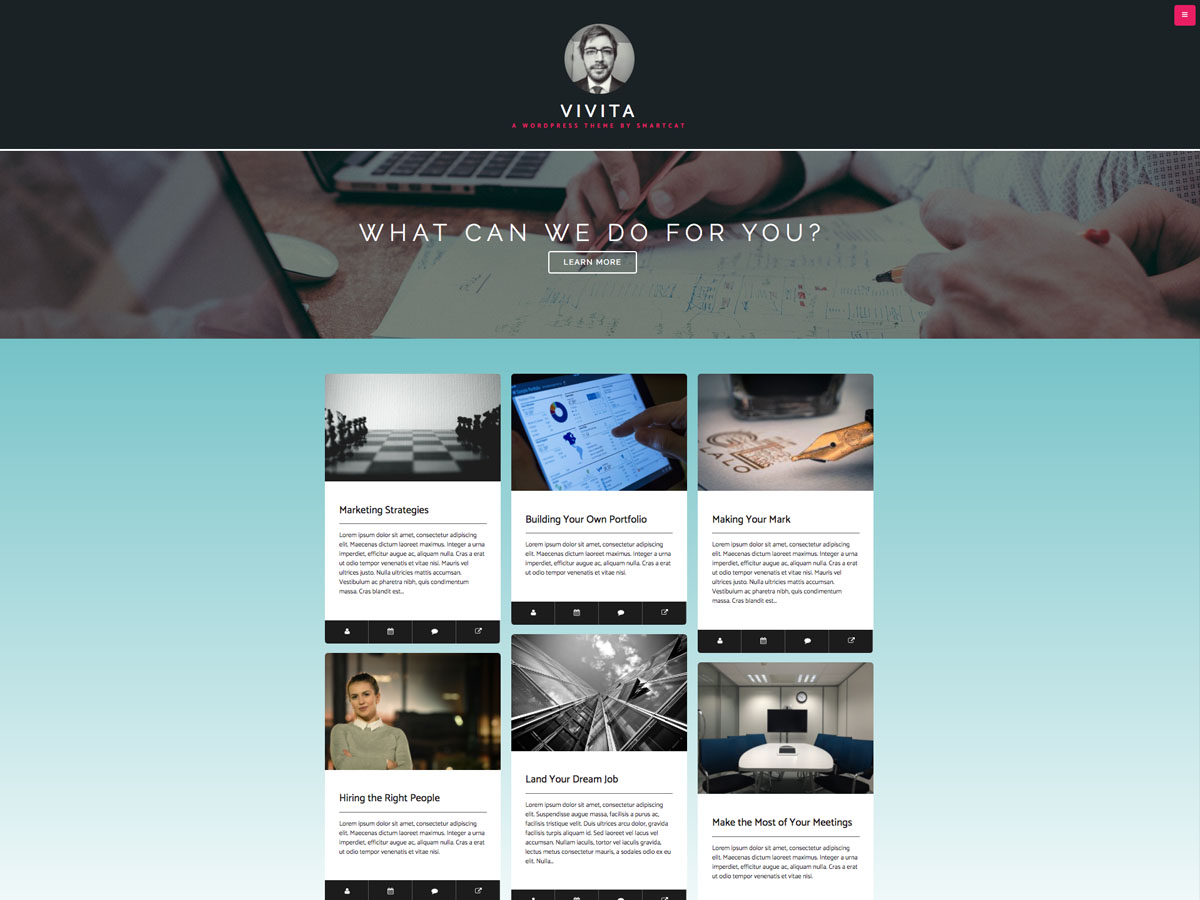 Vivita Preview Wordpress Theme - Rating, Reviews, Preview, Demo & Download