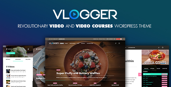 Vlogger Preview Wordpress Theme - Rating, Reviews, Preview, Demo & Download